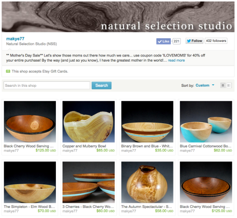 Natural Selection Studio on Etsy
